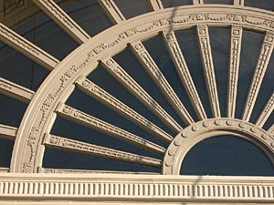 Close up of detail work at Strand Theater